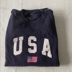 Brandy Melville long sleeve USA sweatshirt